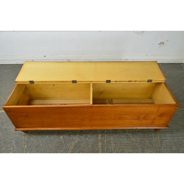 Country Antique 19th Century Poplar Dovetailed Lidded Chest Wood Box For Sale - Image 9 of 12