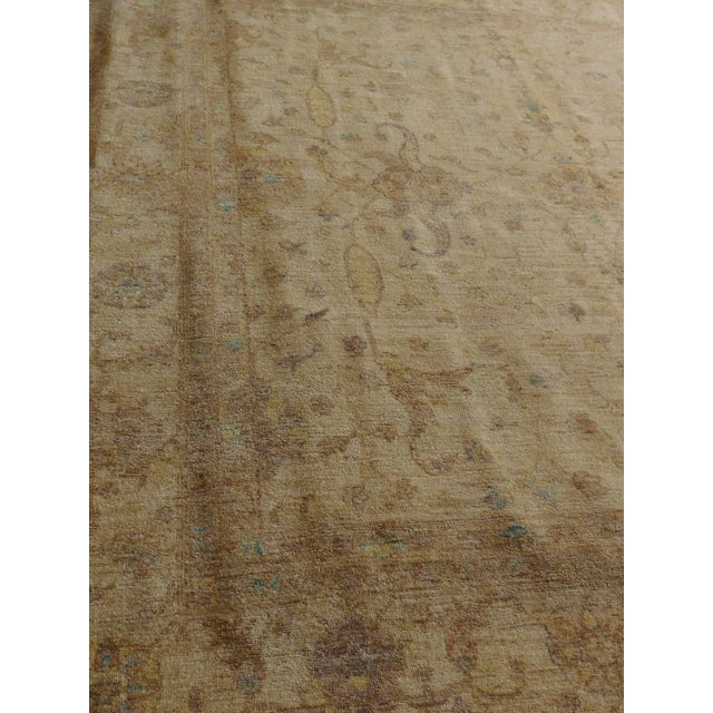 Beige Hand Knotted Pakistan Rug - 8'x 8' For Sale - Image 8 of 10