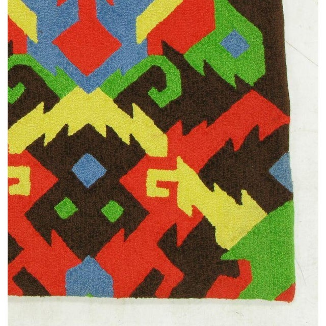 Pair of Edward Fields 1972 Colorful Geometric 6' X 8' Rugs For Sale In Chicago - Image 6 of 8
