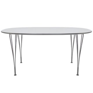Piet Hein and Bruno Mathsson for Fritz Hansen Super Ellipse Table For Sale