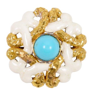 "K.J.Lane ""Turquoise"" Brooch or Pendant For Sale"
