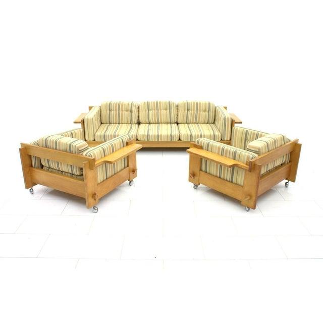 Brown Yngve Ekström Sofa in Oak, Sweden 1960s For Sale - Image 8 of 9