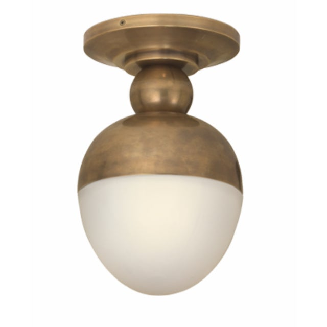 American Visual Comfort Clark Flush Mount Light - 2 Available For Sale - Image 3 of 7