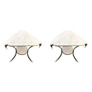 Late 20th Century Empire Style Occasional Tables - a Pair For Sale