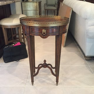 Theodore Alexander Mahogany & Brass Cerejeira Louis XVI Accent Lamp Table Preview