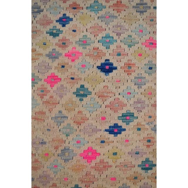 Vintage Geometric Maimana Wool Kilim Rug - 6'9″x10'1″ For Sale - Image 4 of 9