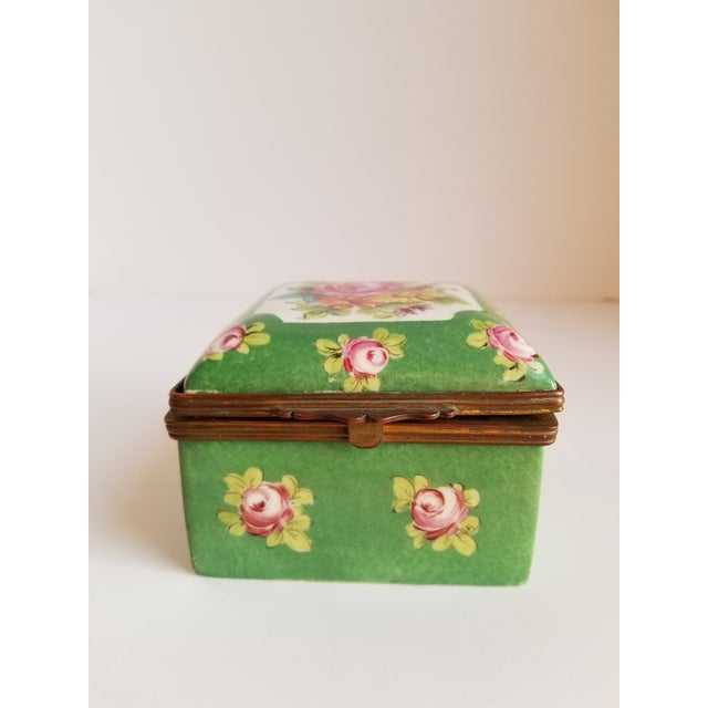 French Antique French Porcelain Trinket Box For Sale - Image 3 of 12