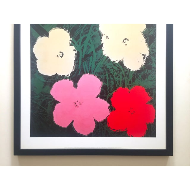 """Mid-Century Modern Andy Warhol Foundation Vintage Lithograph Print Framed Pop Art Poster """" Flowers III """" 1964 For Sale - Image 3 of 13"""
