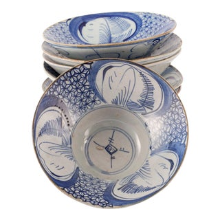 Chinese Porcelain Rice Bowls - Set of 6 For Sale