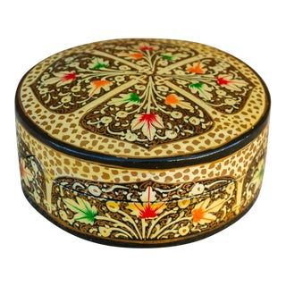 Kashmiri Lacquered Coster Set For Sale