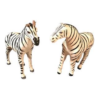 Vintage Papier Mache Zebras - A Pair For Sale