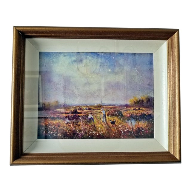 Irish Oil on Canvas of Ballaghadereen Bog by Seamus Coleman For Sale