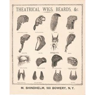 1800's Wigs and Beards Print
