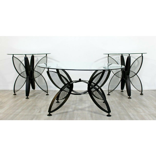 Mid-Century Modern Mid Century Modern Tempestini Salterini Butterfly Patio Pair Side Tables 1960s For Sale - Image 3 of 12
