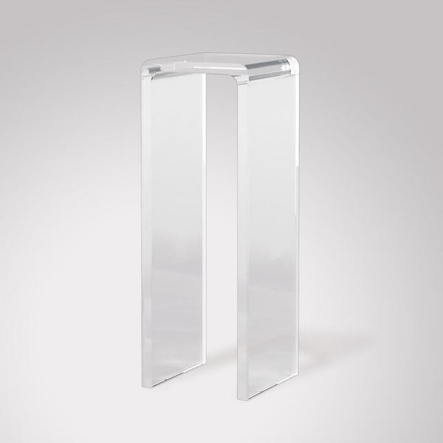 Modern Modern Gallerie Marumo Acrylic Waterfall Pedestal For Sale - Image 3 of 3
