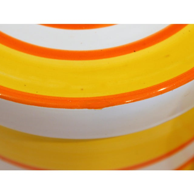 Italian Pottery Stripes Vintage Raymor Canisters - a Pair For Sale In New York - Image 6 of 12