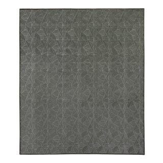 Witney Gray Flatweave Wool/Silk Area Rug - 8'x10' For Sale