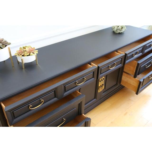 Mid Century Modern Black Dresser - Image 7 of 9