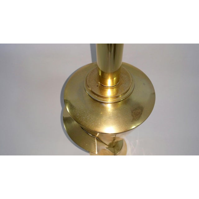 Hollywood Regency Sculptural Brass Table Lamp - Image 9 of 11
