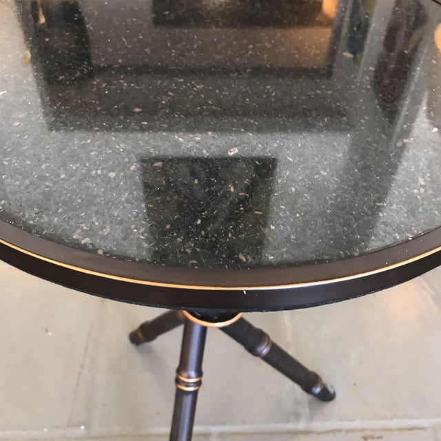 Bamboo Bronze Finished Side Table For Sale - Image 4 of 7