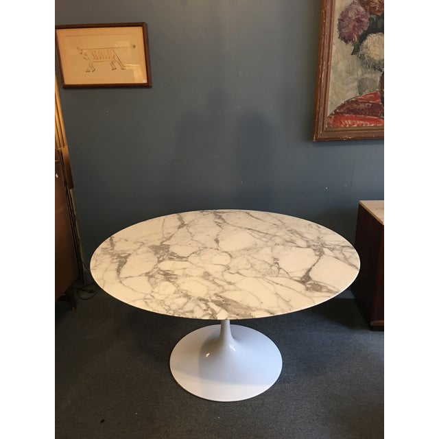 """Eero Saarinen for Knoll 54"""" round marble table. One of the nicest pieces of Marble I have seen, great veining evenly..."""