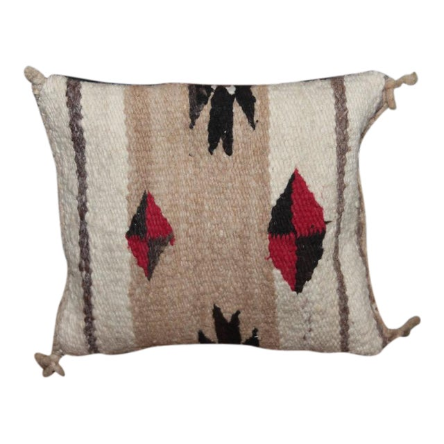 Early Small Navajo Indian Weaving Pillow For Sale