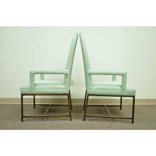 1970s Modern Upholstered Arm Chairs - a Pair For Sale - Image 9 of 10