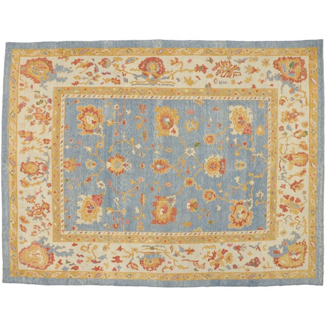 Early 21st Century Contemporary Turkish Oushak Rug - 11′10″ × 15′9″ For Sale - Image 5 of 7