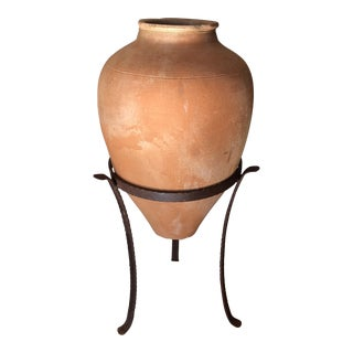 Karabagh Pottery Jug in Iron Stand