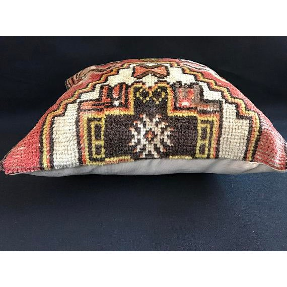Abstract Decorative Vintage Antique Pillow Cover For Sale - Image 3 of 8