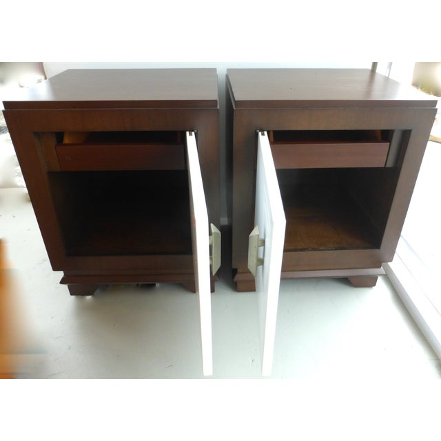 Mid-Century Art Deco Style Nightstands - Pair For Sale - Image 5 of 9