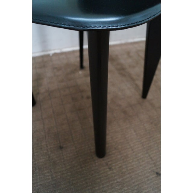 Calligaris Black Italian Dining Chairs - Set of 4 - Image 9 of 10