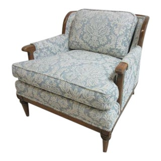Vintage Mid-Century Danish Modern Regency Fireside Lounge Arm Chair