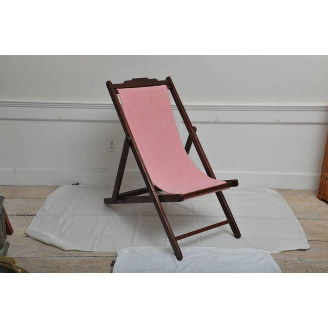Campaign Folding and Adjustable Sling-Back Lounge Chair, 1940s British Campaign For Sale - Image 3 of 10