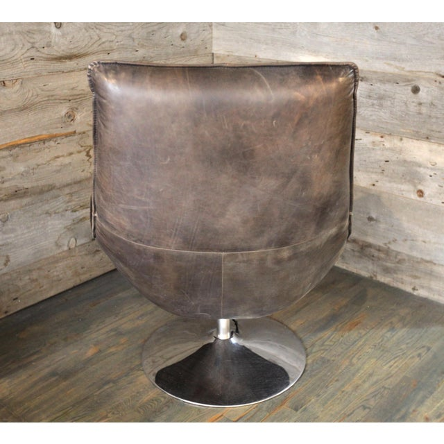 Magnificent Modern Hopper Leather Swivel Bucket Chair Customarchery Wood Chair Design Ideas Customarcherynet