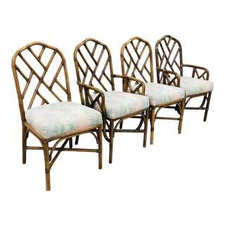 Vintage Chinese Chippendale Chairs For Sale