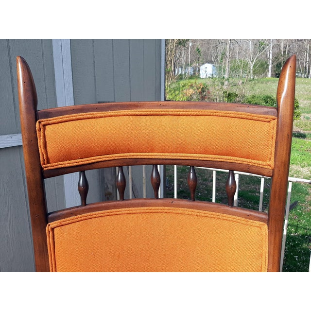 Vintage Mid Century Modern Maxwell Royal for Dunbar High Back Armchair Original Fabric For Sale - Image 9 of 13