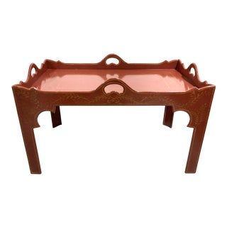 Niermann Weeks Tray Top Paint Decorated Coffee Table For Sale