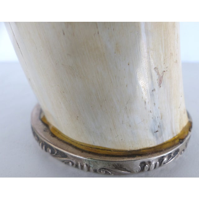 Prata Horn Hunt Cup with Silver Trim - Image 7 of 10
