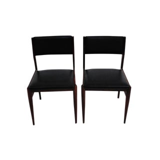Pair of Mid-Century Modern Danish Moller Style Dining Chairs For Sale