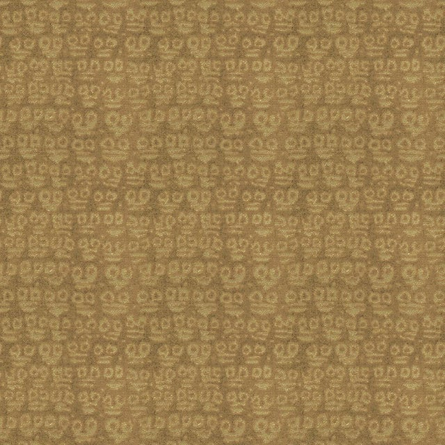 Contemporary Hunt Slonem for Lee Jofa, Guardians Fabric, Taupe, 1 Yard For Sale - Image 3 of 3