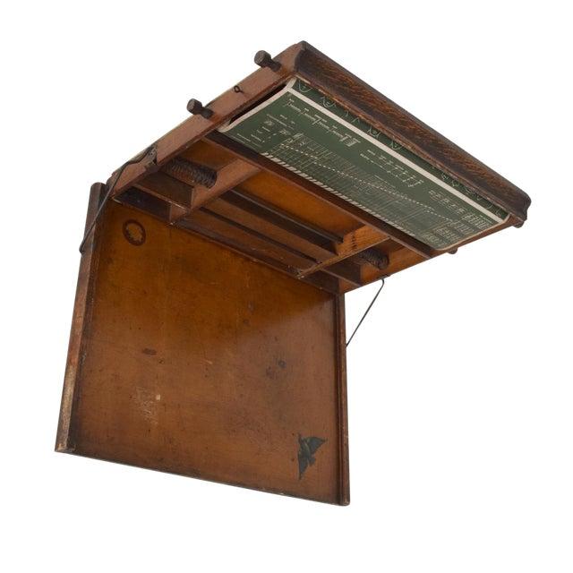 Antique Chautauqua Industrial Art Desk Lewis E. Myers & Company For Sale