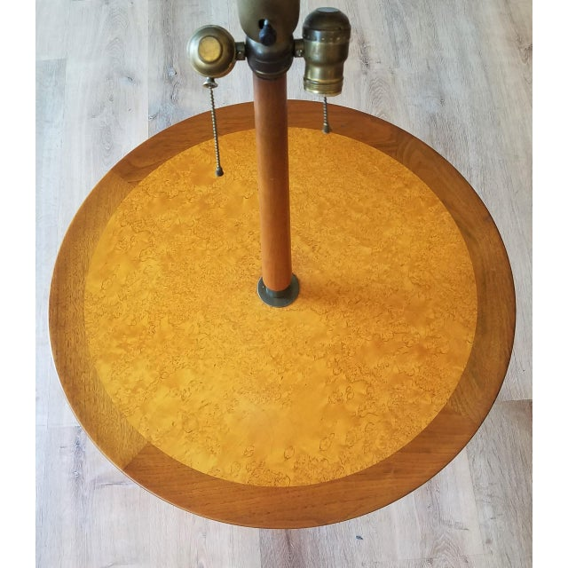Dunbar Furniture Rewired 1940s Edward Wormley Snack Table/Floor Lamp for Dunbar For Sale - Image 4 of 11