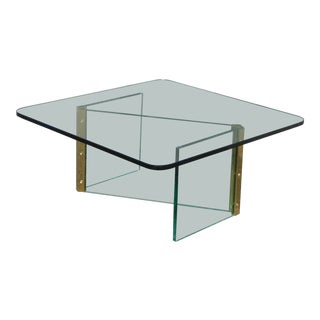 Mid-Century Modern Leon Rosen for Pace Z Shaped Coffee Table For Sale