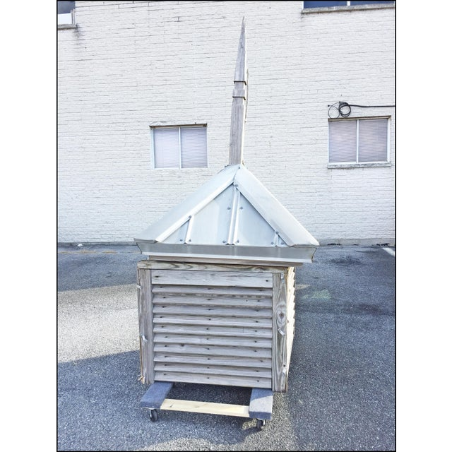 Americana Vintage Large Wood Cupola with Aluminum Roof For Sale - Image 3 of 13