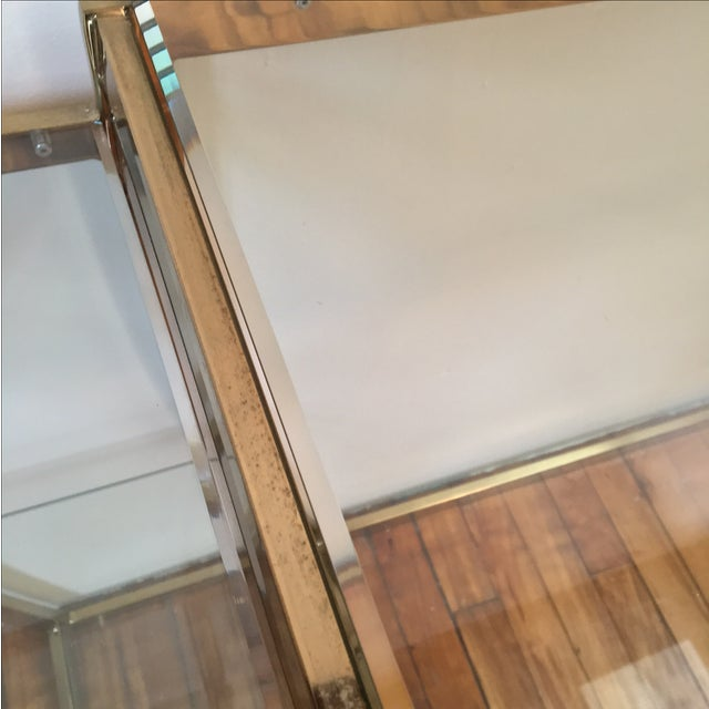 Rare Modernist Brass & Glass Desk or Console Table - Image 5 of 8