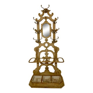 19th-C. French Iron Hall Tree For Sale