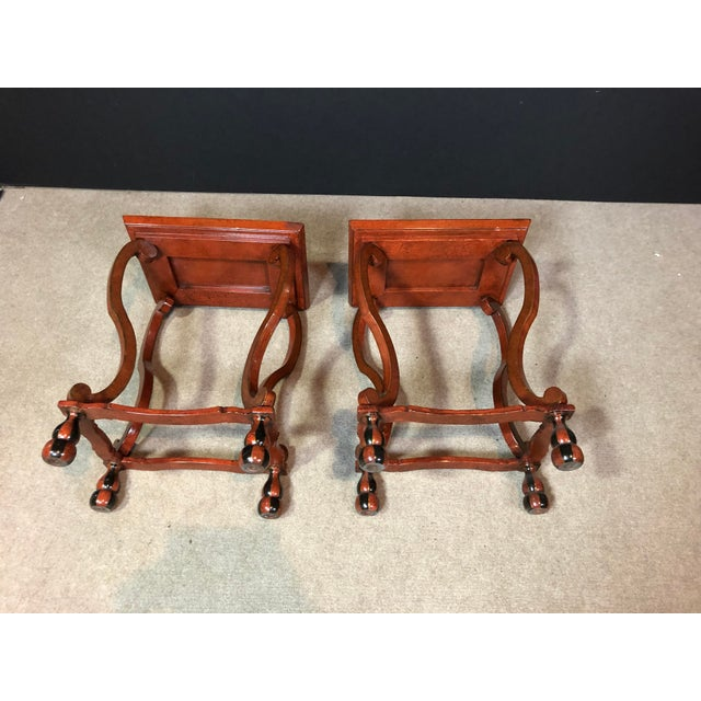 Lacquered and Painted Tray Top Side Tables - a Pair For Sale In New York - Image 6 of 11