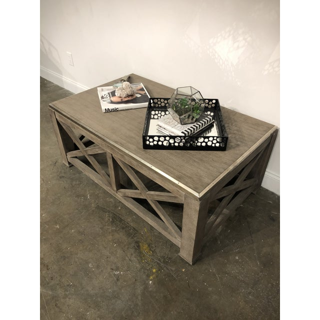 2010s Rustic Lillian August for Hickory White Burleigh Slim Coffee Table For Sale - Image 5 of 6