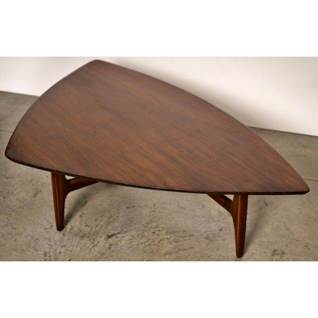 1960s Mid-Century Modern Erwin Lambeth Walnut Coffee Table For Sale - Image 10 of 10